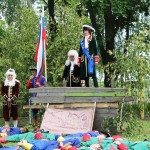На редуте Петр и Меншиков, солдаты готовы к бою