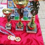 Награждение участников турнира по футболу