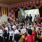 Салют в честь юбилея школы