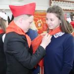 Торжественная церемония приема студентов в пионеры