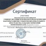 Сертификат Вязниковцева Дарья