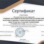Сертификат Гурлева Анастасия